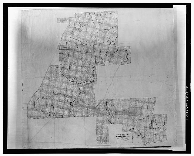 TOPOGRAPHICAL MAP - Druid Hills Historic District, US 29, Atlanta, Fulton County, GA