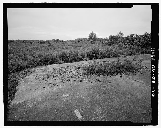QUONSET HUT PAD, JUST NORTH OF NORTH SERVICE AREA, LOOKING EAST - Andersen Air Force Base, Northwest Field, Ritidian Point, Northwestern End of Island Guam, Yigo, Guam, GU
