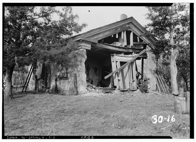 2.  Historic American Buildings Survey C.C. Woodburn, Photographer. February 16, 1934 VIEW FROM SOUTHEAST - William Maxson House, State Highway No. 1, Springdale, Cedar County, IA