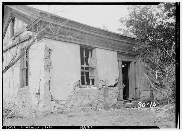 4.  Historic American Buildings Survey C.C. Woodburn, Photographer. February 16, 1934 SOUTH ELEVATION - William Maxson House, State Highway No. 1, Springdale, Cedar County, IA
