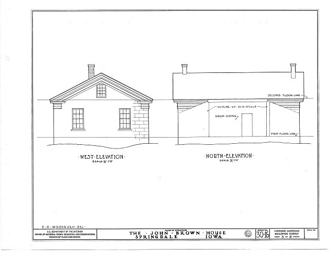 HABS IOWA,16-SPRING.V,1- (sheet 5 of 8) - William Maxson House, State Highway No. 1, Springdale, Cedar County, IA