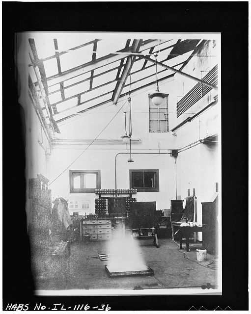 36 VIEW OF FIRE EXTINGUISHER TEST AREA 1912 ADDITION