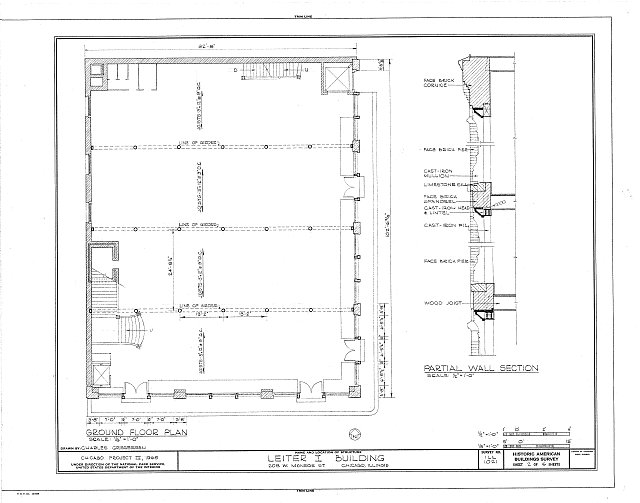 HABS ILL,16-CHIG,23- (sheet 2 of 6) - Leiter I Building, 200-208 West Monroe Street, Chicago, Cook County, IL