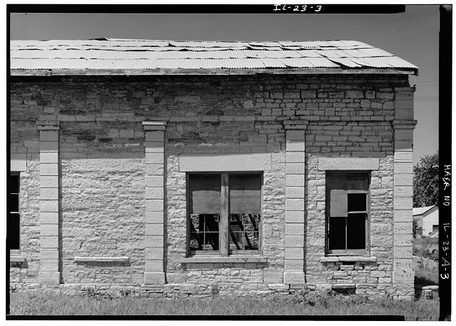 3.  DETAIL OF EAST FACADE LOOKING WEST - Illinois Central Railroad, Freight Depot No. 1, North of First Street, east of Union Street, La Salle, La Salle County, IL