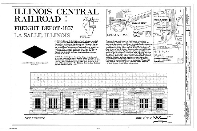 HAER ILL, 50-LASAL, 4A- (sheet 1 of 3) - Illinois Central Railroad, Freight Depot No. 1, North of First Street, east of Union Street, La Salle, La Salle County, IL