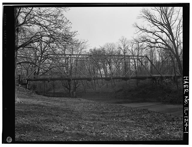 1.  VIEW TO SOUTH - Butzow Bridge, Crescent City, Iroquois County, IL