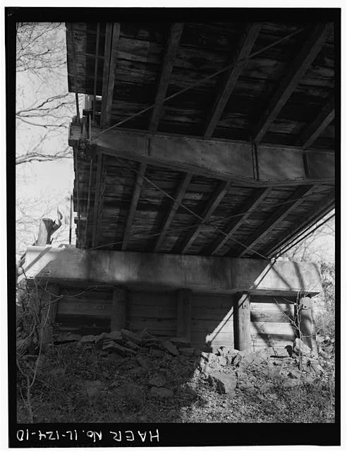 10.  EAST ABUTMENT, VIEW FROM CREEK BED - Butzow Bridge, Crescent City, Iroquois County, IL