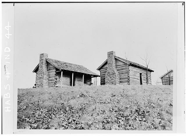 1.  Historic American Buildings Survey Eli Lilly Company Photographic Department - About 1937-1938 Gift courtesy of Edward D. James, FAIA, Preservation Officer GENERAL VIEW OF TRADING POST (LEFT) AND CABIN OF WILLIAM CONNER (RIGHT) AFTER RESTORATION - William Conner Trading Post, State Highway 234, Noblesville, Hamilton County, IN