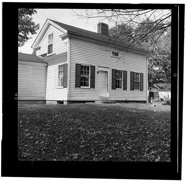 8.  HISTORIC AMERICAN BUILDINGS SURVEY DOROTHY REED, PHOTOGRAPHER OCT. 1956 AUGUSTUS' HOUSE - Ames-Paton House, Pinola, La Porte County, IN