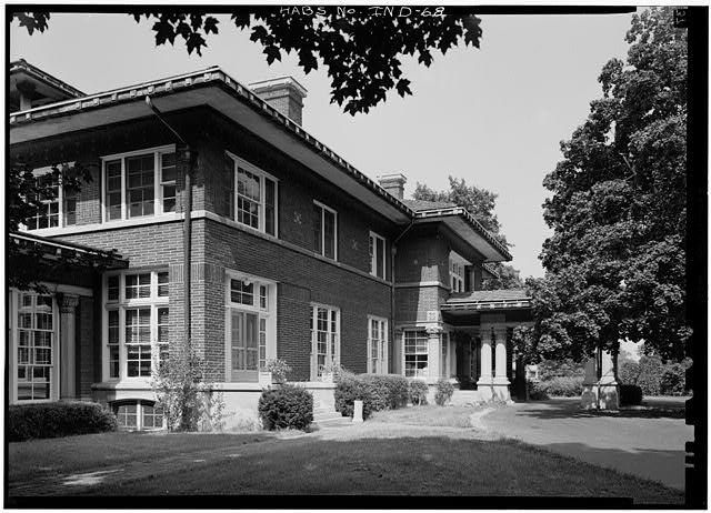 August, 1970 VIEW FROM SOUTHWEST - James A. Allison Mansion, 3200 Coldspring Road, Indianapolis, Marion County, IN