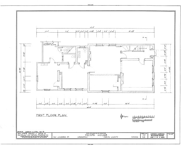 HABS IND,49-IND,12- (sheet 3 of 8) - Despa House, 538  Lockerbie Street, Indianapolis, Marion County, IN