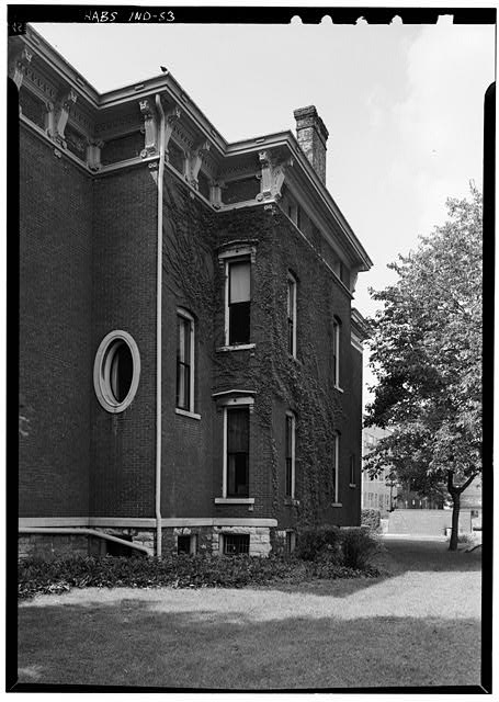 August 1970 NORTH SIDE FROM NORTHEAST - Benjamin Harrison House, 1230 North Delaware Street, Indianapolis, Marion County, IN