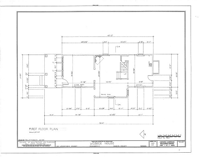 HABS IND,49-IND,11- (sheet 3 of 8) - Webber House, 621 Lockerbie Street, Indianapolis, Marion County, IN