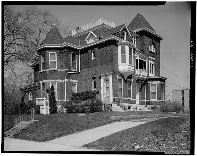 2.  SOUTH (SIDE) AND EAST (FRONT) ELEVATIONS - Thomas Harrison House, 514 West Main Street, Richmond, Wayne County, IN
