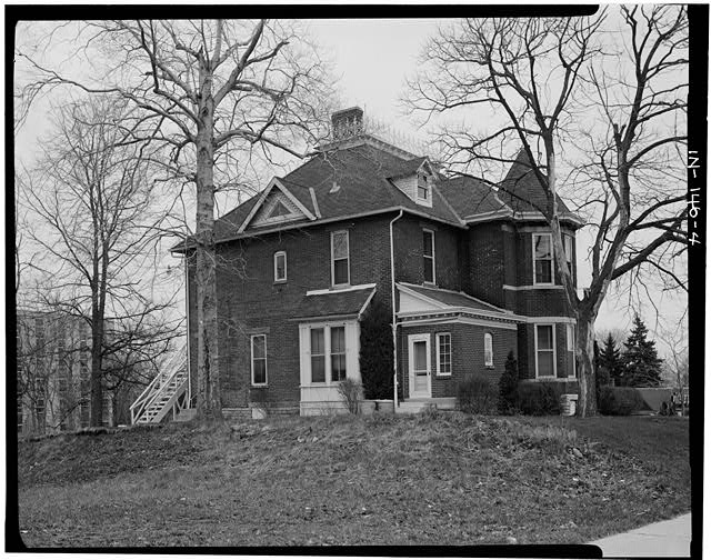 4.  WEST (REAR) AND SOUTH (SIDE) ELEVATIONS - Thomas Harrison House, 514 West Main Street, Richmond, Wayne County, IN