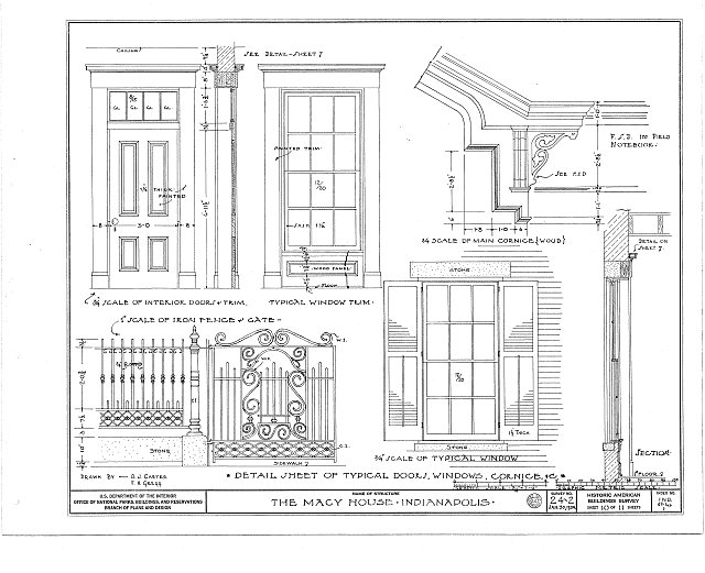 HABS IND,49-IND,1- (sheet 10 of 11) - Macy House, 408 North Delaware Street, Indianapolis, Marion County, IN