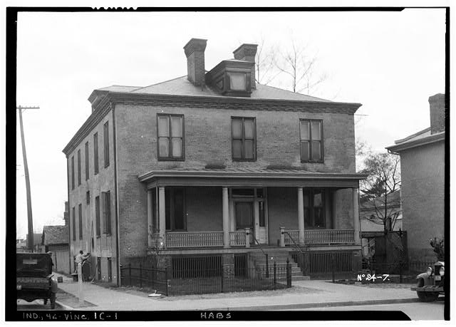 1.  HISTORIC AMERICAN BUILDINGS SURVEY PHOTOGRAPHER, THE SHORES STUDIO, April, 1934 PRIEST'S HOME, FACING NORTH - St. Francis Xavier Cathedral, Priests' House, Vigo Street, Vincennes, Knox County, IN