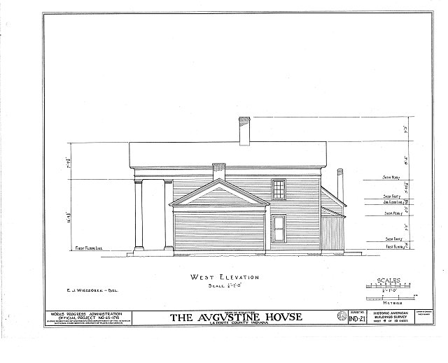 HABS IND,46-____,1- (sheet 4 of 10) - Brown-Augustine House, U.S. Highway 20, New Carlisle, St. Joseph County, IN