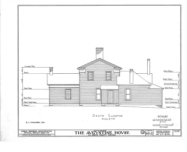 HABS IND,46-____,1- (sheet 5 of 10) - Brown-Augustine House, U.S. Highway 20, New Carlisle, St. Joseph County, IN