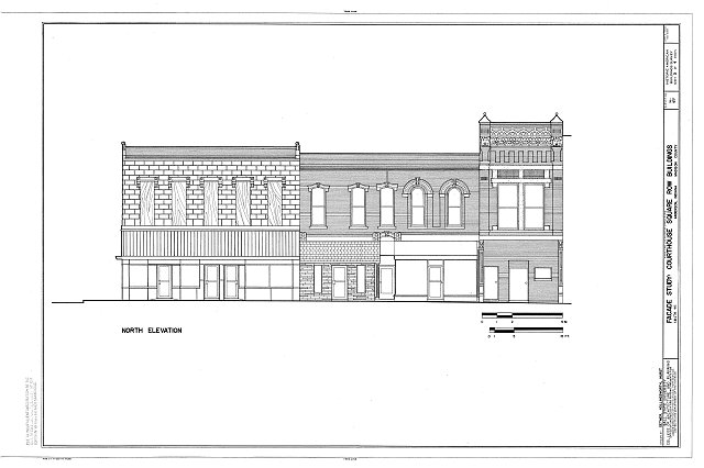HABS IND,48-AND,1- (sheet 3 of 4) - Courthouse Square Row Buildings, Facade Study, Ninth Street, Anderson, Madison County, IN