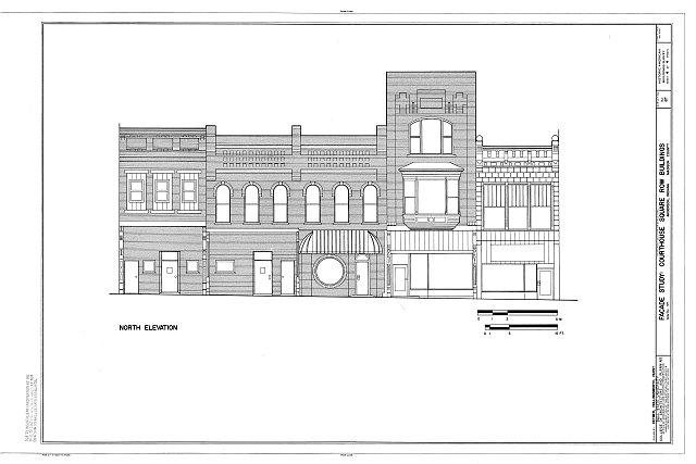 HABS IND,48-AND,1- (sheet 4 of 4) - Courthouse Square Row Buildings, Facade Study, Ninth Street, Anderson, Madison County, IN