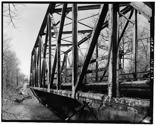 3.  PROFILE VIEW, FACING SOUTHWEST - Hamilton County Bridge No. 218, Greenfield Pike, spanning Stoney Creek, Noblesville, Hamilton County, IN