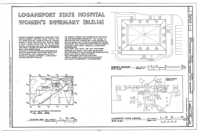 HABS IND,9-LOGPO,1A- (sheet 1 of 7) - Logansport State Hospital, Women's Infirmary, Rural Route 2, Logansport, Cass County, IN