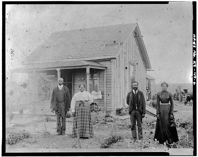 6.  Photocopy of Historic Photograph, Photographer and Date Unknown: EARLY AREA HOMESTEAD - Nicodemus Historic District, Nicodemus, Graham County, KS