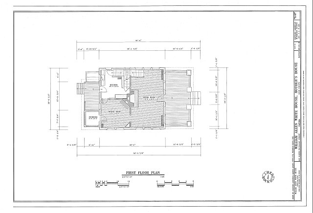 HABS KS-81-B (sheet 1 of 6) - William Allen White House, Mother's House, 923 North Exchange Street, Emporia, Lyon County, KS