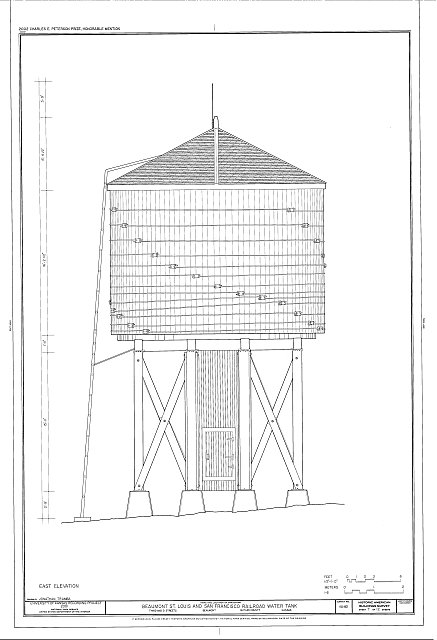 HABS KS-82 (sheet 7 of 12) - Beaumont St. Louis & San Francisco Railroad Water Tank, Third & D Streets, Beaumont, Butler County, KS