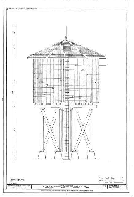 HABS KS-82 (sheet 8 of 12) - Beaumont St. Louis & San Francisco Railroad Water Tank, Third & D Streets, Beaumont, Butler County, KS