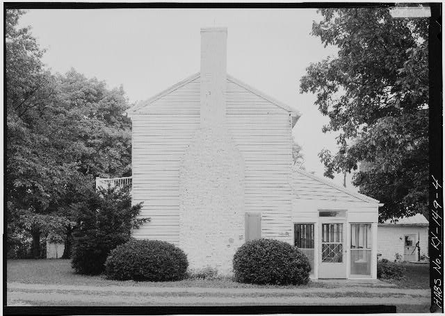 4.  NORTH (SIDE) ELEVATION OF MAIN HOUSE - Spring Bank Farm, 7506 Old Shepherdsville Road, Louisville, Jefferson County, KY