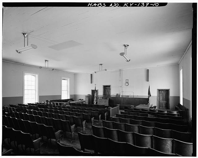 10.  Interior court room looking north. - Lee County Courthouse, Main Street, Beattyville, Lee County, KY