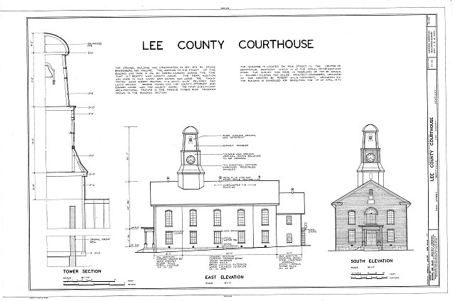 HABS KY,65-BETVI,1- (sheet 1 of 2) - Lee County Courthouse, Main Street, Beattyville, Lee County, KY