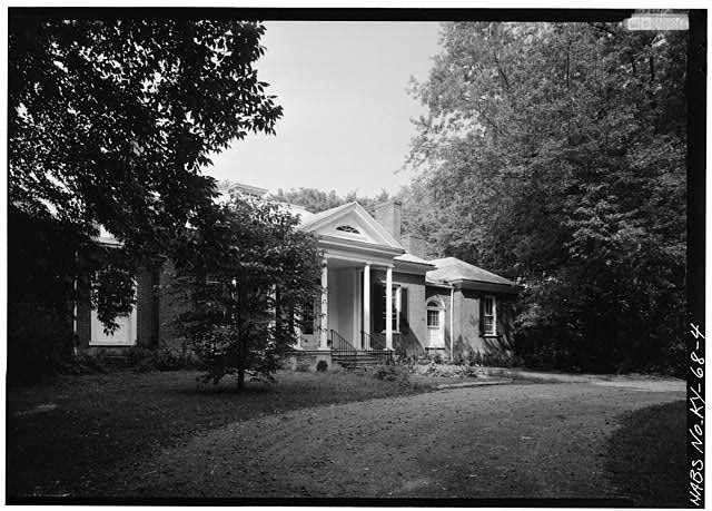 SOUTHWEST (FRONT) ELEVATION, FROM WEST - Ridgeway, 4095 Massey Avenue, Saint Matthews, Jefferson County, KY