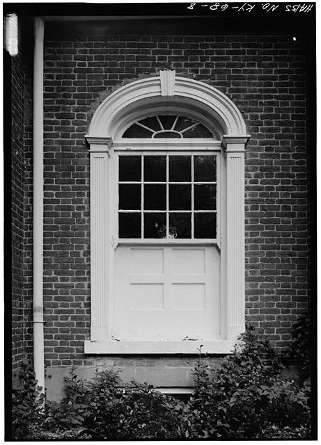 DETAIL OF WINDOW, SOUTHWEST (FRONT) ELEVATION - Ridgeway, 4095 Massey Avenue, Saint Matthews, Jefferson County, KY