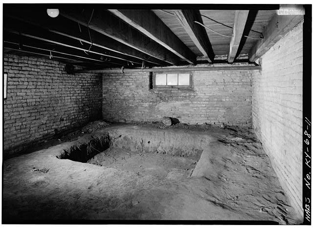 VIEW OF CELLAR WITH A PIT, LOCATED UNDER STUDY ROOM - Ridgeway, 4095 Massey Avenue, Saint Matthews, Jefferson County, KY