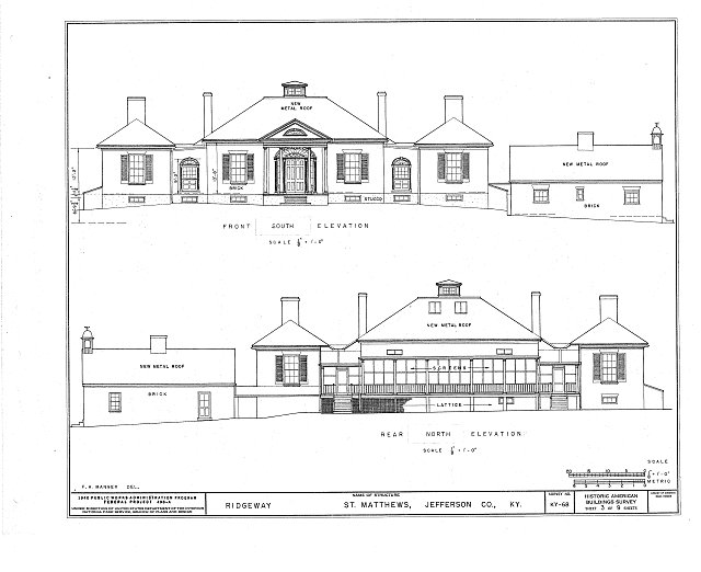 HABS KY,56-SAMA,2- (sheet 3 of 9) - Ridgeway, 4095 Massey Avenue, Saint Matthews, Jefferson County, KY