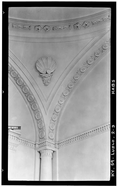 3.  Historic American Bldg. Survey Photographers: (E F Schrand (A.R. Arend, Nov. 6, 1936 DETAIL OF PENDENTIVE (RECEPTION HALL) - Elmwood Hall, 246 Forest Avenue, Ludlow, Kenton County, KY