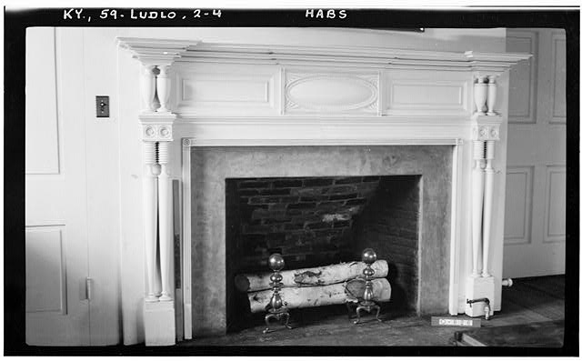 4.  Historic American Buildings Survey Photographers: (E.F. Schrand (A. Arend, Nov. 6, 1936 DETAIL OF MANTEL (Room El) - Elmwood Hall, 246 Forest Avenue, Ludlow, Kenton County, KY
