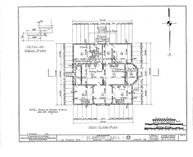 HABS KY,59-LUDLO,2- (sheet 2 of 19) - Elmwood Hall, 246 Forest Avenue, Ludlow, Kenton County, KY