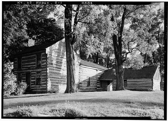 1.  Historic American Buildings Survey Lester Jones, Photographer August 22, 1940 VIEW FROM NORTHWEST - Creel Cabin, Hodgenville, Larue County, KY