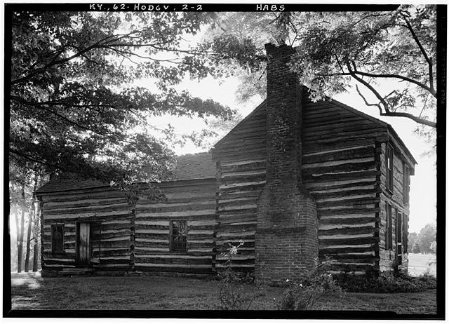 2.  Historic American Buildings Survey Lester Jones, Photographer August 22, 1940 VIEW FROM EAST - Creel Cabin, Hodgenville, Larue County, KY