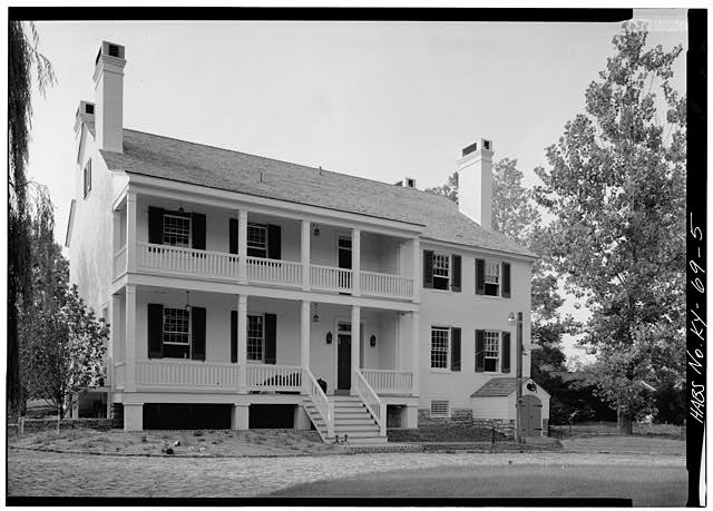 9.  NORTHWEST (REAR) ELEVATION, FROM NORTH - Zachary Taylor House, 5608 Apache Road (formerly Blankenbaker Lane), Saint Matthews, Jefferson County, KY