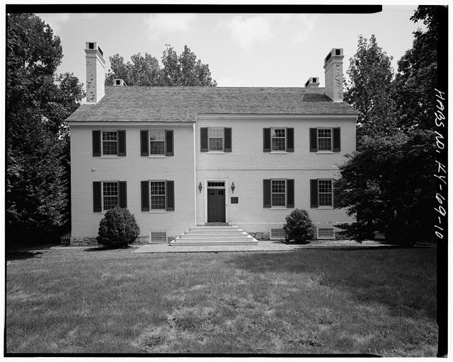 10.  NORTH VIEW OF FRONT ELEVATION - Zachary Taylor House, 5608 Apache Road (formerly Blankenbaker Lane), Saint Matthews, Jefferson County, KY