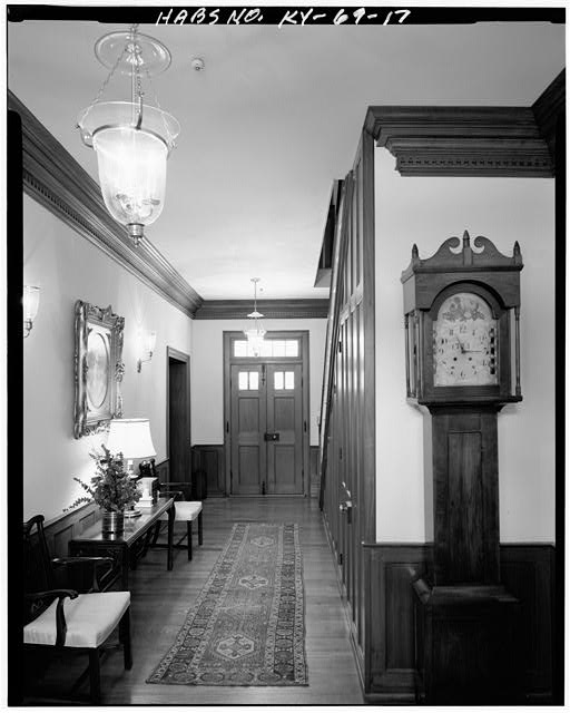 17.  NORTH VIEW OF CENTRAL HALLWAY - Zachary Taylor House, 5608 Apache Road (formerly Blankenbaker Lane), Saint Matthews, Jefferson County, KY