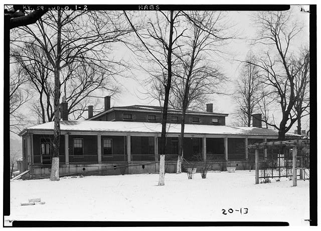 2.  Historic American Buildings Survey Theodore Webb, Photographer, Feb. 8, 1934 VIEW FROM SOUTH - Old Closson House, Closson Court & Ringold Streets, Ludlow, Kenton County, KY