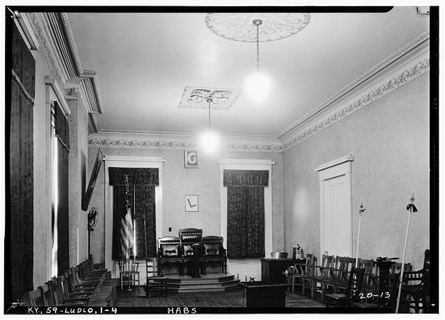 4.  Historic American Buildings Survey Theodore Webb, Photographer, Feb. 8, 1934 LODGE ROOM (GENERAL VIEW) - Old Closson House, Closson Court & Ringold Streets, Ludlow, Kenton County, KY