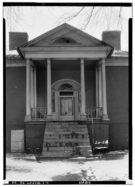 4.  Historic American Buildings Survey Theodore Webb, Photographer, Mar. 19, 1934 DETAIL OF PORTICO (WEST) - Farmington, 3033 Bardstown Road, Louisville, Jefferson County, KY