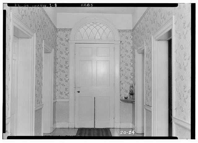 8.  Historic American Buildings Survey Theodore Webb, Photographer, Mar. 19, 1934 DETAIL OF REAR HALL ENTRANCE (LOOKING EAST) - Farmington, 3033 Bardstown Road, Louisville, Jefferson County, KY